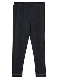 Legging fille gris foncé JYAESLEG3 / 20SI0161D26944