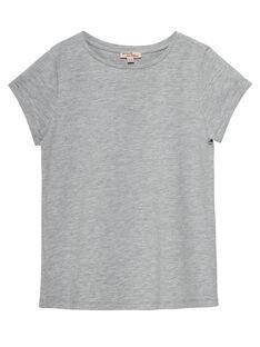 Tee Shirt Manches Courtes Gris chiné JAESTI4 / 20S90164D31943