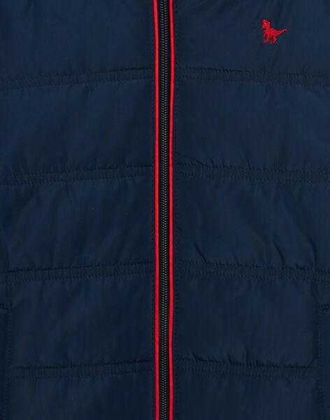 Doudoune garçon légère avec manches amovibles bicolores JOGRODOU / 20S902I3BLO705