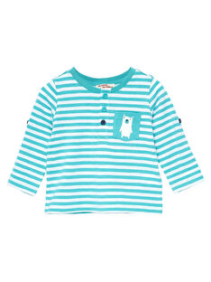 Tee Shirt Manches Longues Turquoise JUJOTUN2 / 20SG1041TML202
