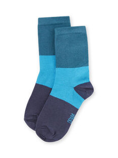 Chaussettes bleues enfant garçon MYOJOCHOC4 / 21WI0216SOQ714