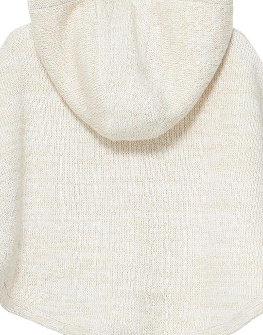 Cape en tricot bébé fille JIVICAPE / 20SG09I1CPE001