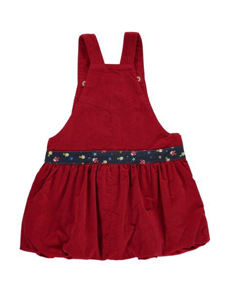 Robe à bretelles en velours bébé fille DINAUROB3 / 18WG09G4ROB511