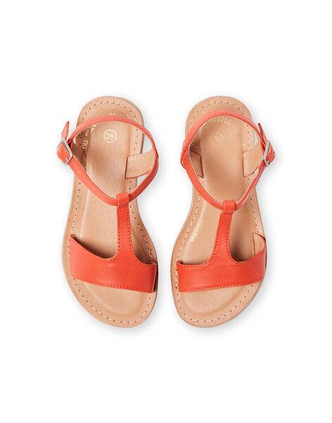 Sandales orange enfant fille LFSANDMADDIE / 21KK3551D0E400