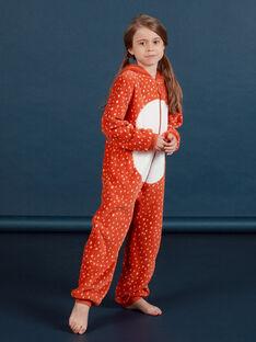Surpyjama à capuche renard en fausse fourrure enfant fille MEFASURFOX / 21WH1192D4F420