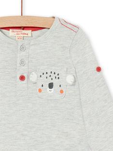 Tee Shirt Manches Longues Gris chiné LUJOTUN1 / 21SG1034TML943