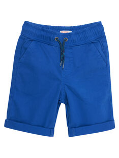 Bermuda garçon uni bleu cobalt JOJOBERMU3 / 20S902T1D25703