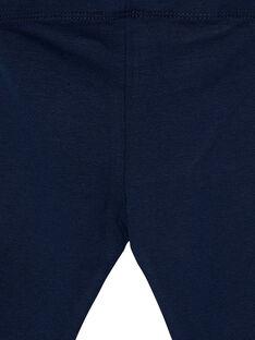 Legging bleu marine nœuds bébé fille JYIESLEG1 / 20SI0962D26070