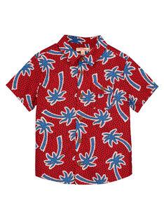 Chemise à manches courtes palmiers garçon FOTOCHEM / 19S902L1CHMF505