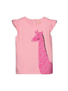 Tee-shirt manches courtes fille FAJOTI1 / 19S90131D31D301