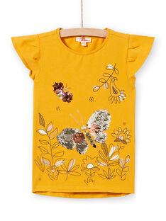 Tee Shirt Manches Courtes Jaune LAPOETI1 / 21S901Y1TMC107