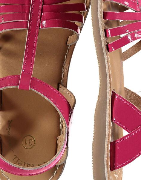 Sandale ville en cuir verni fille FFSANDOLI2 / 19SK35C5D0E304