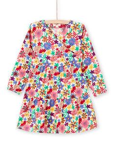 Robe kimono imprimé fleuri coloré enfant fille MAMIXROB2 / 21W901J3ROB009
