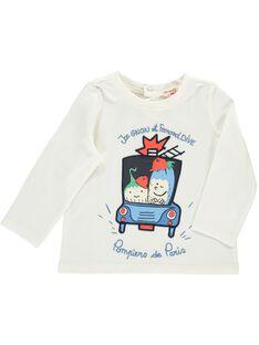 Tee-shirt manches longues bébé garçon CUKLETEE1 / 18SG10D3TML001