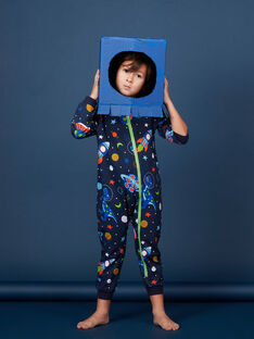 """Combinaison bleu nuit """"espace"""" phosphorescent enfant garçon JEGOCOMBI / 20SH12C1D4F705"""