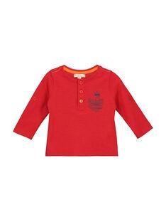 Tee Shirt Manches Longues Rouge FUJOTUN3 / 19SG1033TMLF505
