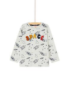 Tee-Shirt manches longues beige enfant garçon KOGOTEE3 / 20W902L3TMLA010