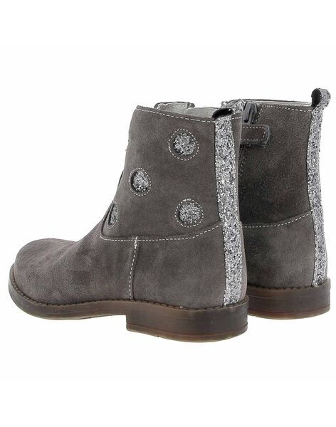 Boots en cuir fille DFBOOTMYL / 18WK35TDD0D940