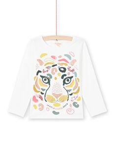 T-shirt écru motif tigre coloré enfant fille MAKATEE3 / 21W901I2TML001
