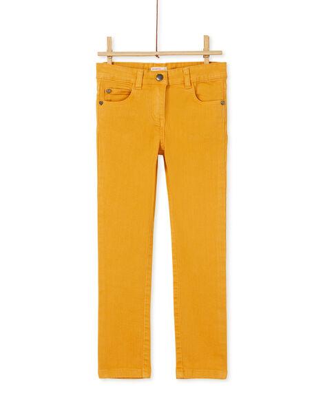 Pantalon garment dyed miel  KAJOPANT1 / 20W90134D2B107