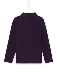 Sous-pull violet col roulé motif fantaisie enfant fille MAFUNSOUP / 21W901M1SPLH703