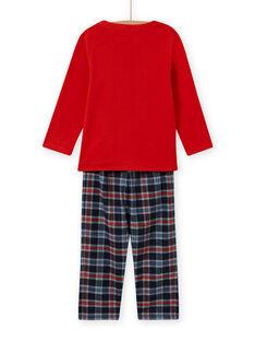 Ensemble pyjama motif extraterrestre enfant garçon MEGOPYJSPA / 21WH1284PYJE414