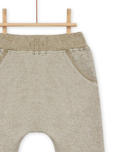 Pantalon vert kaki à motif animal bébé garçon MUKAPAN1 / 21WG10I2PAN604