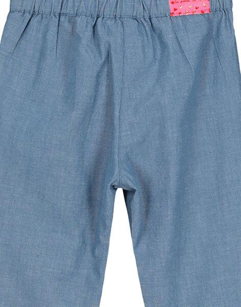 Pantalon en toile bébé fille FICOPAN / 19SG0981PAN704
