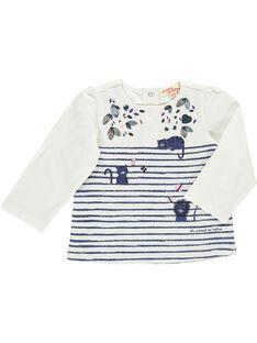 Tee-shirt manches longues bébé fille CIKLETEE / 18SG09D1TML001