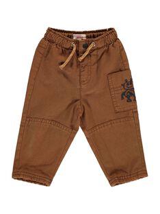 Pantalon marron bébé garçon DUBLEPAN2 / 18WG1092PAN817