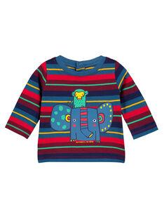 Tee Shirt Manches Longues Bleu marine GUMUTEE3 / 19WG10F3TML715