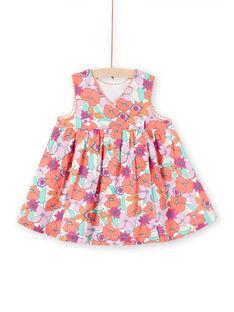 Robe à fleurs bébé fille LIVIROB1 / 21SG09U1ROB000
