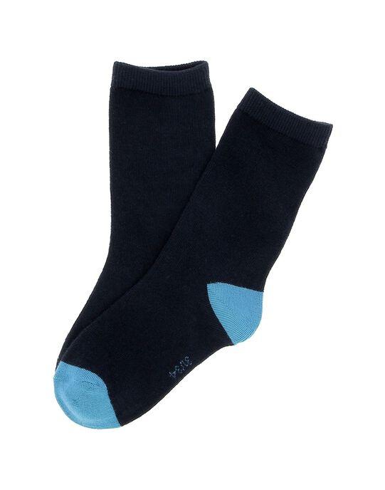 Chaussettes mi-hautes bicolores garçon DYOJOCHO8A / 18WI02J5SOQ717