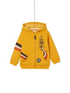 Sweat jaune fourré chaud avec animation brodée enfant garçon KOGOGIL / 20W902L1GILB105