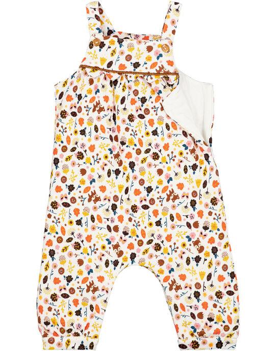 Salopette doublée imprimée bébé fille  GIJAUSAL / 19WG09H1SAL001