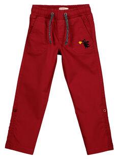 Pantalon Rouge Retroussable GOVEPAN / 19W90221PANF508