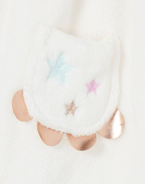 Robe fausse fourrure blanche bébé fille KIBOROB2 / 20WG09N2ROB001