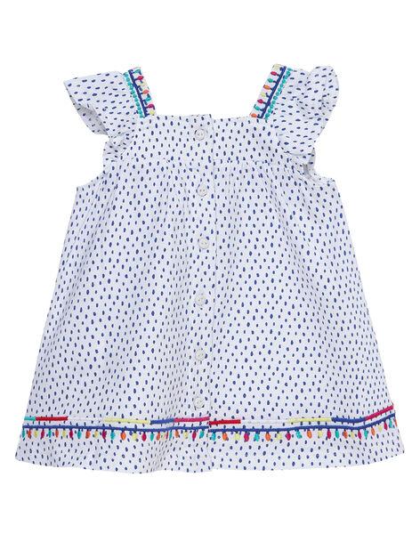 Ensemble robe et bloomer imprimé fleuri et pois bébé fille JIMARENS1 / 20SG09P1ENS000