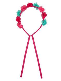 Serre-tête avec fleurs couleurs contrastées.  JYAWEHEAD / 20SI0191TET304