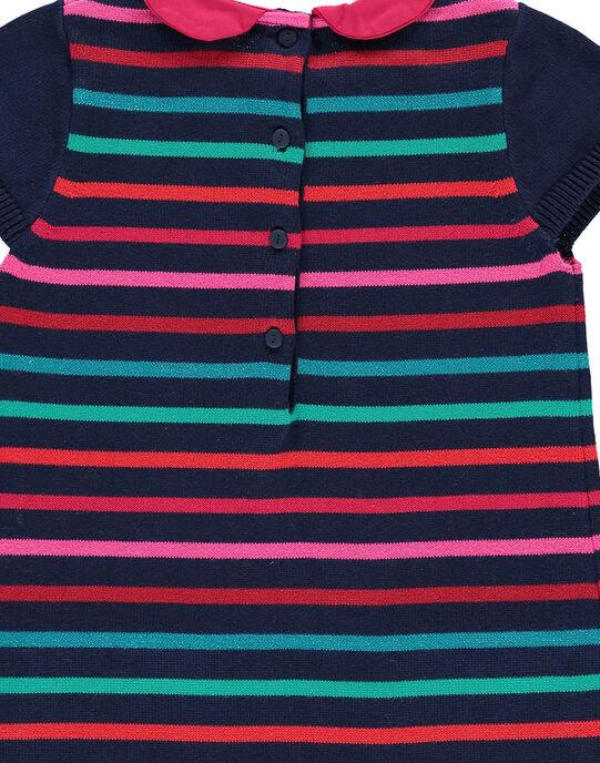 Robe en maille de coton fille DATRIROB3 / 18W901D4ROB099