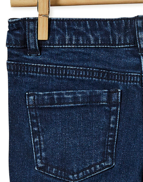 Jean brut avec détail en velours à paillette le long de la jambe KABRIJEAN / 20W901F1JEAP271