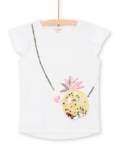 T-shirt manche courtes avec sac ananas en trompe l'oeil LAJAUTI3 / 21S901O3TMC000