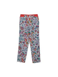 Pantalon fluide imprimé fille FATOPANT / 19S901L1PAN099