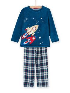 Ensemble pyjama motif espace phosphorescent enfant garçon MEGOPYJFUZ / 21WH1297PYJC214