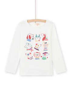 T-shirt manches longues imprimé fantaisie enfant fille MAMIXTEE5 / 21W901J1TML001