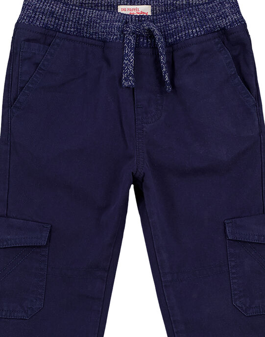 Pantalon Cargo Elastiqué Marine GOJOPAMAT1 / 19W90245D2B070
