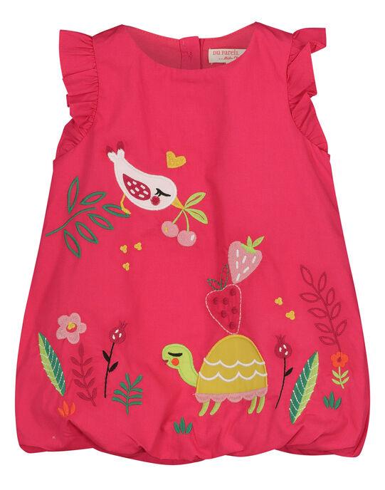Robe en popeline bébé fille FIYEROB3 / 19SG09M3ROB304