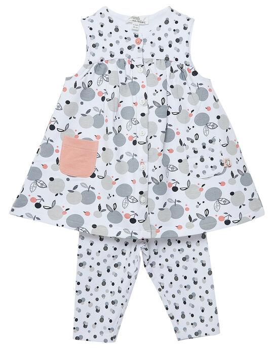 Ensemble robe sans manches + legging naissance fille JOU1ENS2 / 20SF03J1ENS000