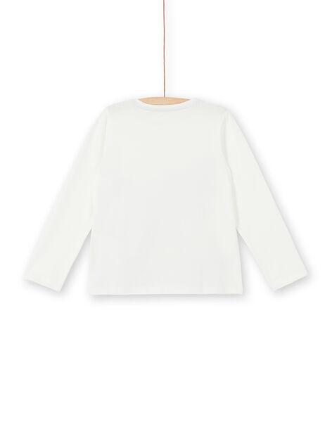 Tee Shirt Manches Longues Ecru LABLETEE2 / 21S901J1TML001