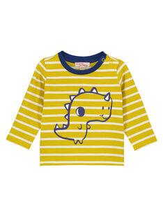 Tee Shirt Manches Longues Jaune  GUJOTIRAY5 / 19WG1044TMLB114